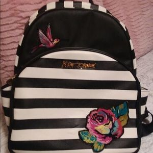 Betsey Johnson backpack with matching lunchbox